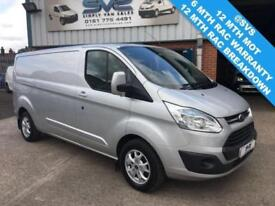 2015 15 FORD TRANSIT CUSTOM LWB L2 P/V LOW ROOF 125BHP LIMITED TOP SPEC LTD DIES