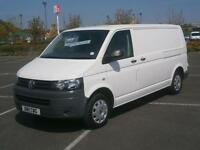 2011 11 VOLKSWAGEN TRANSPORTER 2.0 TDi 102PS T30 T5 LWB PANEL VAN WHITE