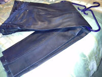 Leather pants( Almost New) size 34/ 11 on SALE