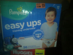 Huggies and pampers easy ups