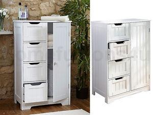 wooden cabinet with 4 drawers cupboard floor storage bathroom bedroom