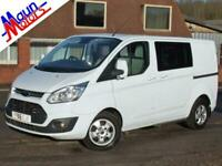 "2016 ""66"" Ford Transit Custom 290 TDCi 'LTD' Double Cab-In Van, 6 Seat Crew Van"
