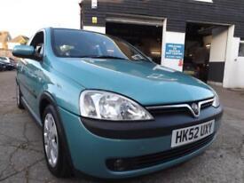 Vauxhall/Opel Corsa 1.2i 16v 2002 SXi 60000 MILES DRIVE AWAY TODAY NEW MOT!
