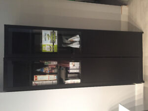 IKEA BILLY Bookcase / Kitchen Pantry with 2 half glass doors