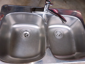 Sink,  Stainless Steel and Moen Faucet