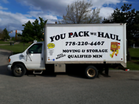You pack we haul Moving in storage