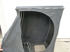 Collapsable Ice Fishing Tent on Sled (one person)