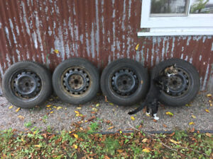 For Sale: Set of Four 205/55R16 Michelin X-Ice Tires with Rims