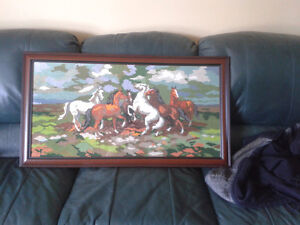 Hand made horse picture/needle point