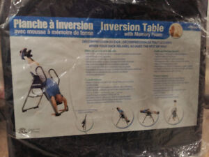 Inversion Table with Memory Foam