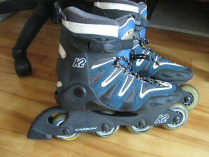 K2 CAMANO CARBON WOMENS IN-LINE SKATES SIZE 8 US or 39 Eur NAVY