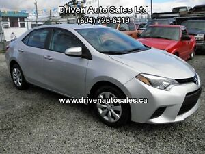 2014 Toyota Corolla LE CVT Auto Satelite Bluetooth Backup camera