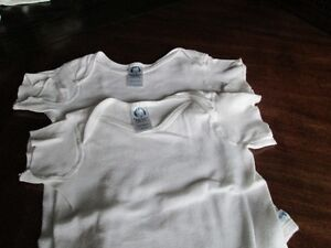 THREE short sleeved onesies/body suits (18-24M)
