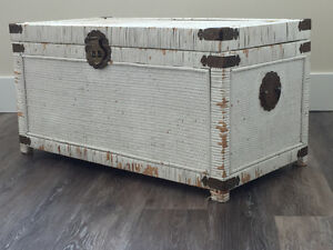 White Wicker Trunk -