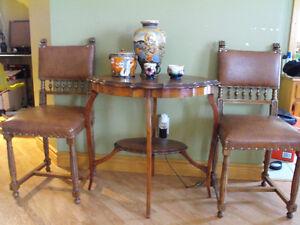 Table d'appoint ancienne, antique, style Second Empire, acajou