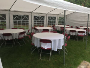 Rent our tent and more for outdoor event! Book early