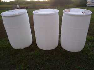 Plastic Barrels Uncapped or Open Top