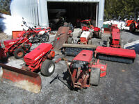Gravely power sweeper, snow blower, blade, roof remover
