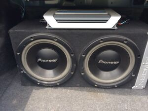 """Dual 12"""" Subs with Infinity Amp"""
