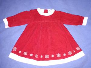 Hanna Andersson Toddler Corduroy Christmas Dress 18/24mts EUC.
