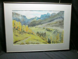 **SOLD**ORIGINAL Water Color Painting SIGNED by artist B. Turner