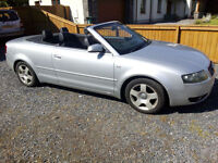 Audi A4 Cabriolet 1.8T 2004 Silver. Low Mileage.