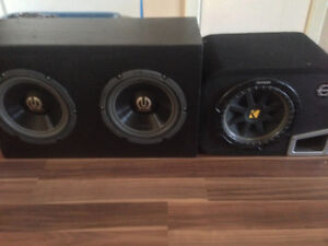 """Selling 2 pioneer 10"""" subs and 1 kicker 10"""""""