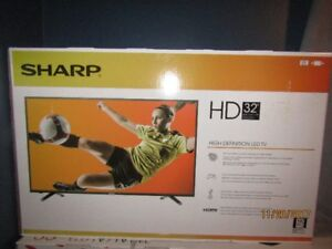 "BNIB Sharp 32""/Coby 19"" lcd both for 300.00 2 free dvd players"