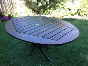 Outdoor Wooden table Oval