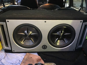 "2x 10"" clarion subs with bassworx box andd clarion amp"