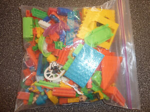 Ziploc bag full with building blocks, compatible with LEGO