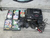 Sega Genesis 16-Bit System with 13 games 2 controllers & cables