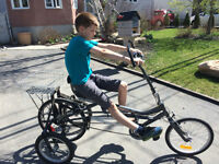 velo tricycle a vendre (reclinant - recumbant)