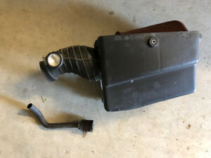 SOLD TRX450R Polished intake boot with Huge air filter