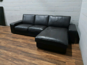 Free delivery: Ikea Genuine Leather Secfional