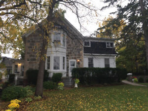 2 bedroom apartment in upper level of century stone home