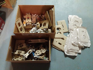 Various electrical plugs and light switches