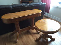 Matching oak Sofa and End table