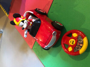 Disney Mickey Mouse Transforming Rc Roadster Racer Hot Rod Car
