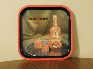 Vintage Grand Macnish Scotch Whisky Square Tin Tray