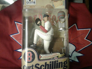 VERY RARE MCFARLANE -CURT SCHILLING SIGNED FIGURINE OUT OF 250