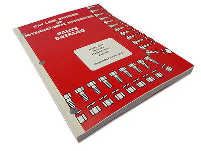 Ih International Harvester Td-7e Paydozer Crawler Dozer Parts Catalog Manual