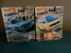 Hot Wheels Cargo Carriers VW Sunagon,Nisssan Skyline Lot of 2
