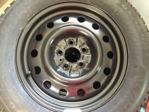 Studded Winter Snow Tires and Rims - 225/65/R17