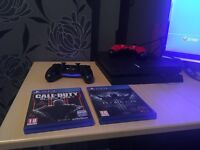 For Sale or Swap PS4 - Play Station 4 with 2 wireless controlers and 2 games.