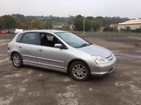 Honda Civic 1.6i VTEC SE 5 DOOR - 2003 53-REG - 11 MONTHS MOT