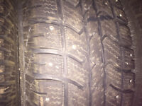 Studded winter tires 235/70r16