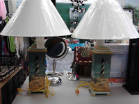 Set of 2  New Side Table Lamps