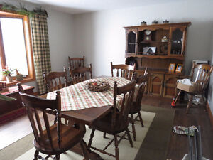 Large Dining Room Table and hutch