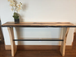 REDUCED live Edge and Timber Tables
